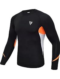 RDX MMA Chemise de Compression Néoprène Rashguard Manche Longue Shirt Sudation Arts Martiaux