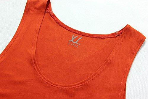 XDIAN Herren Stringer Tank Top Bodybuilding und Fitness Bekleidung | Muskelshirt Herren | Ärmelloses T Shirt Orange