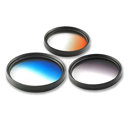 TOOGOO (R) 3 x 58mm Gradual Farbe ND Graduiert grau blau orange Filter