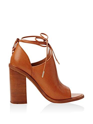 Jeffrey Marrone Campbell Couro Sapatos Tiara Toe Mulheres Calcanhar Com Aberto De tan ZZrqOWF