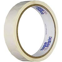 """Generic dl610e inventario círculo etiquetas, 3/4""""de diámetro, color blanco"""