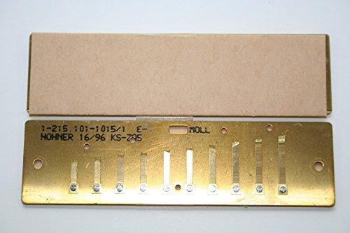Hohner MS Stimmplatten Satz 0,9mm E-Moll Messing inkl. Schraubensatz -