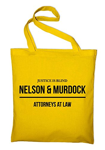 Nelson E Murdock Avvocato Borsa Di Juta, Borsa, Borsa Di Stoffa, Borsa Di Cotone, Giallo Nero