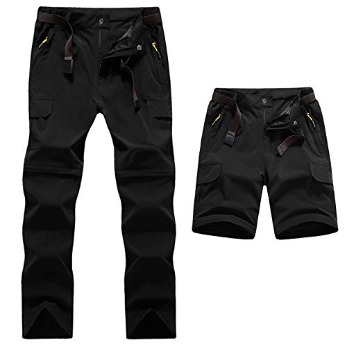 outlet store 2cd25 ea9b9 LHHMZ Outdoor Quick Dry Convertible Hiking Trousers Zip Off Climbing  trousers Water Resistant Walking Pants