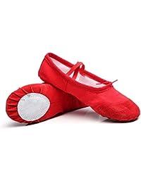 BEAUTOP Scarpe da ballo per danza classica Scarpe da punta per bambini  Scarpe da bambina per 9fbda039516