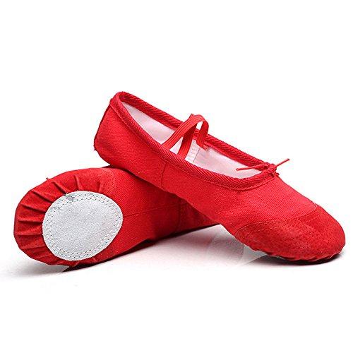 SONITECH 5 Farben,9 Größen Ballett Tanzschuhe Pointe Für Kinder Kinder Mädchen Frauen Weiche Wohnungen Schuhe Komfortable Fitness Atmungsaktive Tanzschuhe von Ruimin (Nackt Gummi-band)