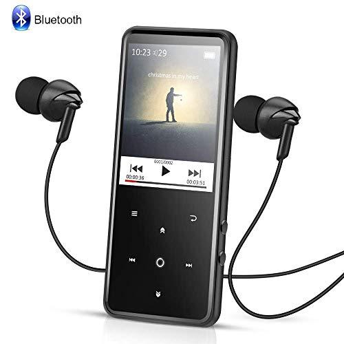 AGPTEK Reproductor Mp3 Bluetooth 8GB, HD Pantalla 2.4   a Colores con  Botones Táctiles 2fc24f48cff4