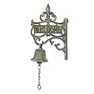 Antikas | Wandglocke | Welcome | Türglocke für den Eingangsbereich | Glocke für die Hauswand