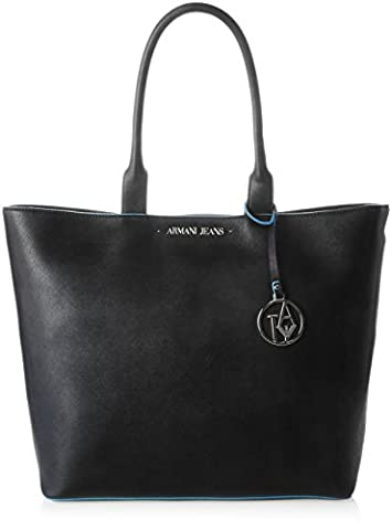 Armani Jeans 922535cc856, shoppers femme - noir - Schwarz (NERO 00220), 11x33x45 cm (B x H x T)
