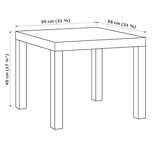 Misure Tavolino Lack Ikea.Lack Tavolino Basso Misura 55 X 55 Cm Colore Bianco