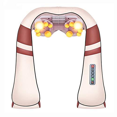 WWJJLL Shiatsu Hals und Schulter Massager, mit Hitze Vibration Funktion für Muskelspannung Schmerz Linderung Nacken Taille Schultern Zu Hause Hals und Schulterheizung Halswirbel