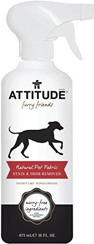 ATTITUDE - Eliminador Naturale de Manchas y Olores Perros y Gatos - Hipoalergénico - Aroma de coco y lime - Neutraliza los olores y disuelve los residuos de suciedad - Sin ingredientes dañinos - Vegan & Cruelty Free - 475 ML