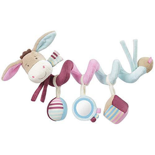 Fehn 081336 Activity-Spirale Esel - Stoff-Spirale zum Greifen und Fühlen - Für Babys und Kleinkinder ab 0+ Monaten - Maße: 30 cm - Mädchen Spielzeug Autositz