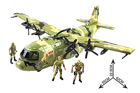 Action Army War / 3 Pilot Soliders / Vehicle Cargo Plane Combat Fighter