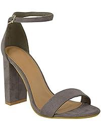 1a7e02c8b3 Fashion Thirsty Damen Blockabsatz Knöchelriemen Sexy Offene Zehen Sandalen Schuh  Größe Neu