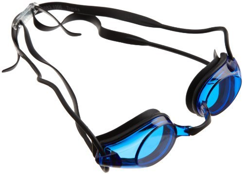 Arena Adult Tracks Swimming Goggles - Blue Lens, Black Frame by Arena