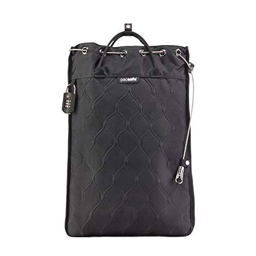 Pacsafe Travelsafe 12L - Mobiler Safe mit TSA-Zahlen Schloß, Trage-Tasche mit Anti-Diebstahl Technologie, 12 Liter Volumen, Schwarz/Black -