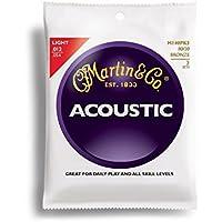 Martin M140PK3 - Juego de cuerdas para guitarra acústica de bronce, .012-.054