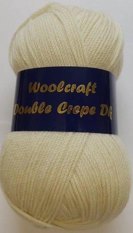 Doppelte Woolcraft Krepp, Wolle/Garn, DK 100 G, 12 Farben cremefarben