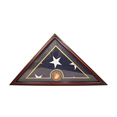 Display Box, 5x9-Bestattung-Bestattungsal-Veteran Elegant Wood Display Case mit Flachbasis ab ()