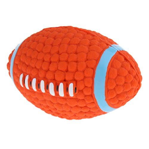 B Blesiya Hundeball Spielball Hundespielzeug Ball mit Quietscher - Rugby
