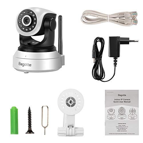 Bagotte HD 720P Telecamera Sorveglianza Wifi Interno, Videocamera IP Wireless Camera, Visione Notturna a Infrarossi , Audio Bidirezionale, Sensore di Movimento Pan/Tilt, Compatibile con iOS & Android - 10