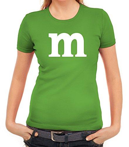 Karneval Fasching Junggesellenabschied Damen T-Shirt Gruppen & Paar Kostüm mit M Aufdruck, Größe: (Zwei Kostüme Schwestern Halloween)