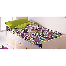 Saco nórdico CON relleno NAIF para cama 90 x 190/200 + 1 funda de almohada. Saco unido a la bajera con cremallera. Con relleno nórdico.