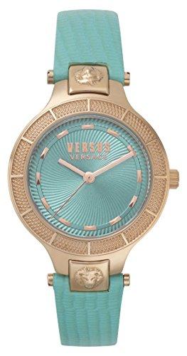 Versus by Versace Femme Analogique Quartz Montre avec Bracelet en Cuir VSP480418