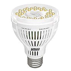 LED Pflanzenlampe Vollspektrum 15W E27-SANSI Pflanzenlicht Tageslichtweiß Led Grow Lampe Voller Zyklus Wachstumslampe für Gewächshäusern,GrowBox,Zimmerpflanzen,Hydroponische Pflanzen