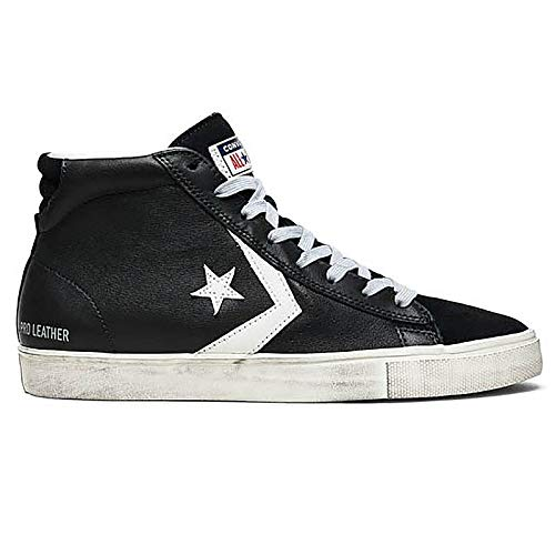 Converse Lifestyle PRO Leather Vulc Distressed Mid, Scarpe da Ginnastica Alte Unisex Adulto, Multicolore (Black/Turtledove/Light Gray 001), 45 EU