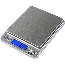 UEETEK 0.01g-500g Balanza de Precision Bascula Digital Para Alimento de la Cocina,Pesar Gemas,Joyas y Otros Objetos Preciosos