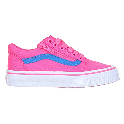 Vans , Baskets mode pour garçon rose (Neon Canvas) Pink/Blue (Neon Canvas) Pink/Blue