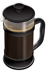 French Coffee Press,Black - 34 oz (1 Litre) Espresso and Tea Maker with Triple Filters, Stainless Steel Plunger and Heat Resistant Glass - by Utopia Kitchen