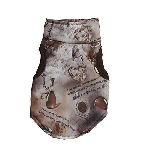 Kostüm Jacke Brief - WESEEDOO Haustier Kleidung Hund Jacke Haustier Mantel Brief Drucken Gepolsterte Kostüm Weste Für Klein Mittel Groß