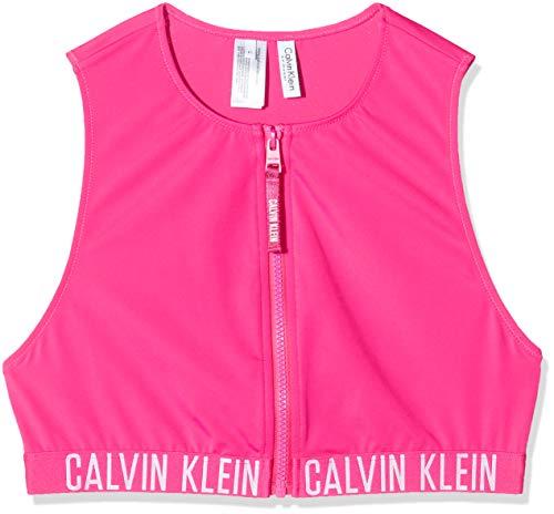 Tommy Hilfiger Cropped Rash Vest Bikini, Morado (Fuchsia Purple), Talla única (Talla del Fabricante: Taglia produttoreL) para Mujer