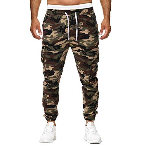 Hombre Pantalón MISSWongg Poliéster Camuflaje Impresión Pantalones Deportivos Casuales Drawstring Elástica Pantalones Hip Hop Drawstring Jogging Fitness Harem Pantalones Pants Trekking Ropa de Hombre