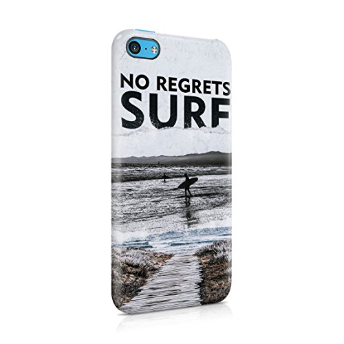 Man Surfing Waves On Coast California Tropical Live Surf Love Surf Custodia Posteriore Sottile In Plastica Rigida Cover Per iPhone 6 & iPhone 6s Slim Fit Hard Case Cover No Regrets