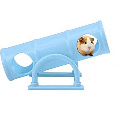 Toruiwa Hamster Spielzeuge Hamster Wippe Tunnel Kleintier Wippe aus Kunststoff für Hamster Ratte Maus blau