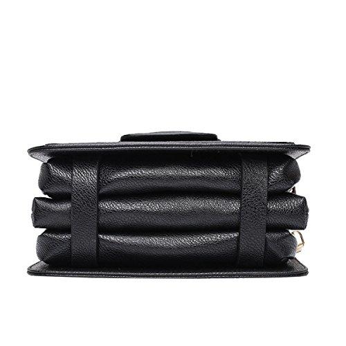 Yy.f Bag Giovane Partito Casuale Nuova Moda Borse Di Lusso Signore Di Modo Portafoglio Mobile 3 Colori Black