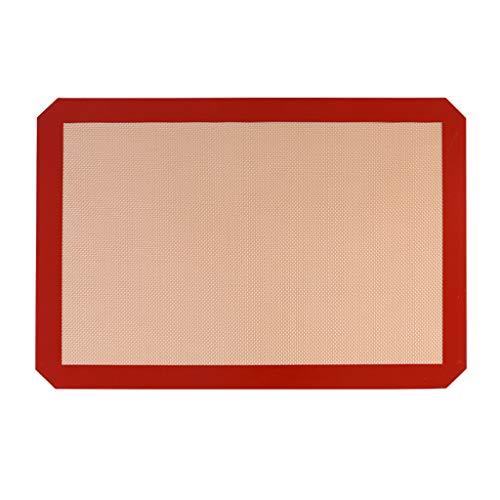 Silikonmatte, Chshe, Silikonmatte 3 Stück Antihaft-Backblech, Backblech Teppich, Qualität Profi-Qualität (Rot) -