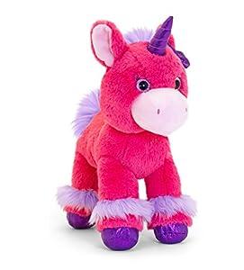 Keel Toys SF0348AMC Unicornio de Purpurina de Juguete Suave, Color Rosa Oscuro, 30 cm
