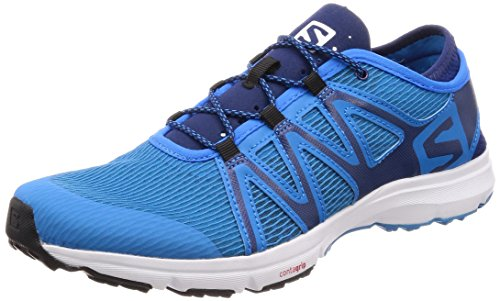 Salomon Men's Crossamphibian Swift Athletic Sandal, Cloisonne/Blue Depths/White, D(M) US