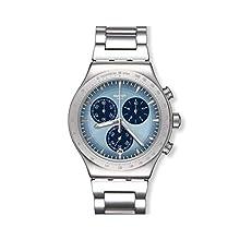 Swatch Herren Chronograph Quarz Uhr mit Edelstahl Armband YVS459G