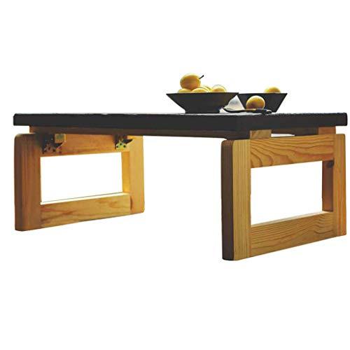 Klapptisch LITING Massivholz Tatami Couchtisch Bucht Fenster Tisch Kleine Couchtisch Niedrige Tabelle (Color : Wood Color Table Legs, Size : 60 * 40 * 30cm) -