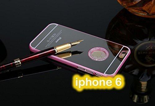 aea78b963e3 Cokitec-Carcasa para iphone 6, diseño de efecto espejo para Carcasa trasera  de plástico