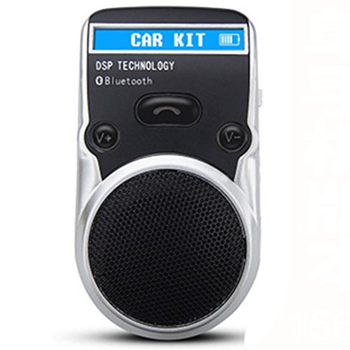 FM Transmitter Auto, bbring LED Lautsprecher solarbetriebene Bluetooth Kfz-Freisprechanlage für Handy Handy
