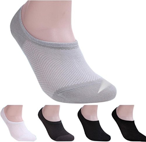 Malloom® 5 Pairs Bamboo Fiber Net Loafer Boat socks Liner Low Cut No Show Socks Test