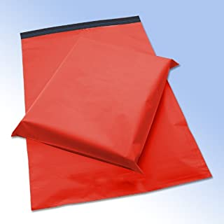 200 Red Plastic Postage Post Mail Mailing Bags 10 x 14