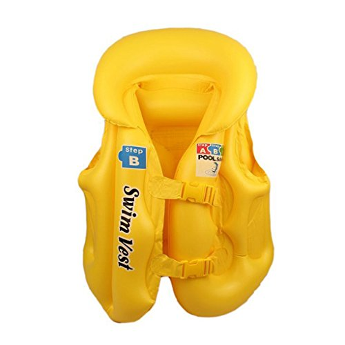 Magideal Kids Baby Float Swimming Aid Life Jacket Inflatable Swim Beach Vest M Yellow  available at amazon for Rs.445